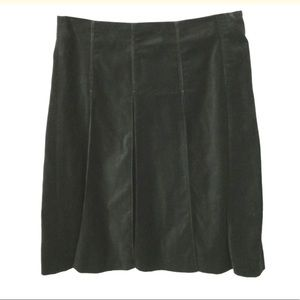 Burberry Black velvet skirt 8